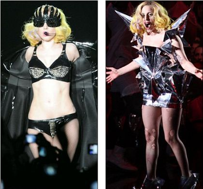 Lady Gaga looking like Madonna: on tour and in ''Alejandro'' video