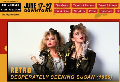Madonna's Desperately Seeking Susan at LA Film Festival, June 19, 2010