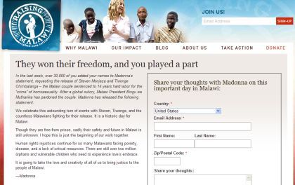 Join Madonna: ''Celebrate Steven and Tiwonge's Freedom''