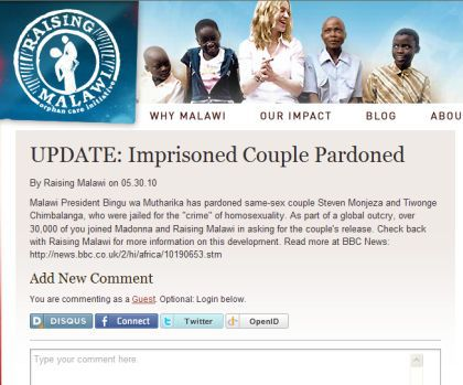 Over 30,000 of you joined Madonna in asking for the couple's release