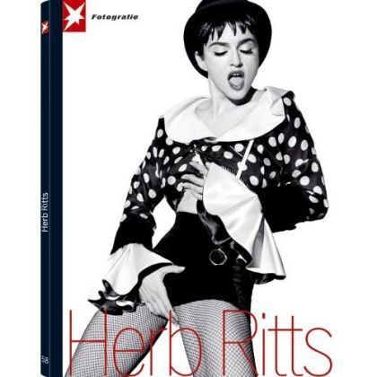 Madonna on the cover of Herb Ritts's book