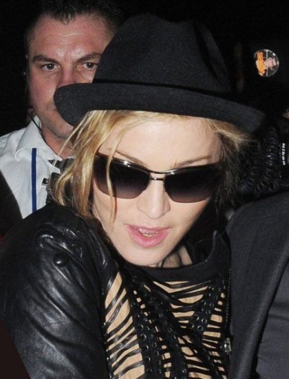 Madonna in London doing a thank-you party for her tour dancers