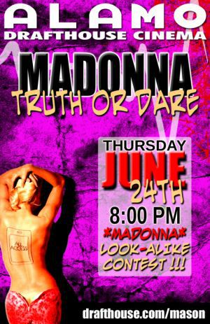 Screening of Madonna's ''Truth or Dare'' in Houston on June 24, 2010