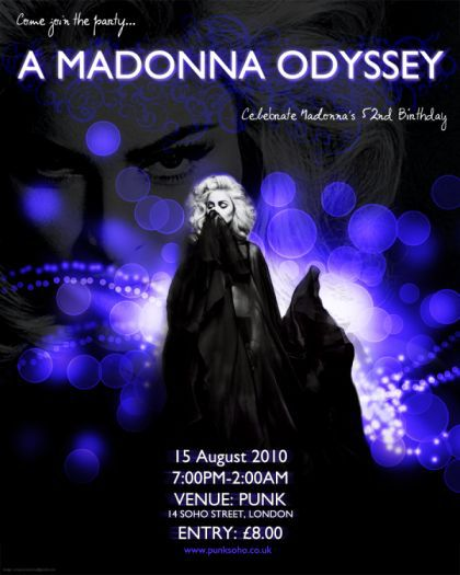 'A Madonna Odyssey' at Punk in London on August 15, 2010