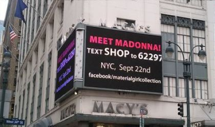 Macy's is getting ready for Material Girl Collection opening