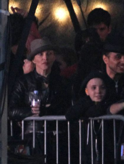 Madonna and Rocco at Jay-Z show, Wireless Festival, London on July 4, 2010