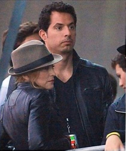 Madonna and Guy Oseary at Jay-Z show, Wireless Festival, London on July 4, 2010