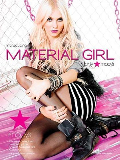 The Face of Madonna's Material Girl is Gossip Girl star Taylor Momsen