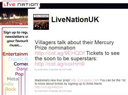 Live Nation UK on Madonna's new tour - July 28, 2010