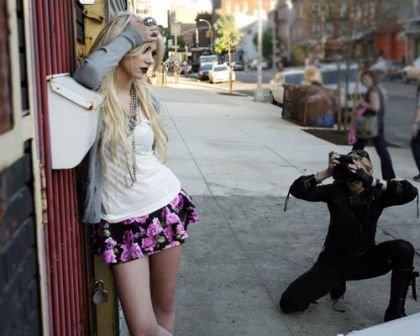 Madonna's Taylor Momsen Shoot for Material Girl: Behind the Scenes