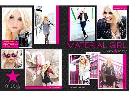 Taylor Momsen Get Styled by Madonna and Lourdes for Material Girl Ads
