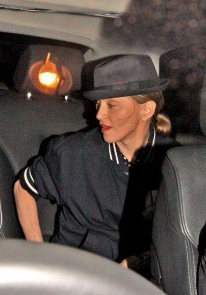 Madonna at Aura nightclub in London on July 23, 2010