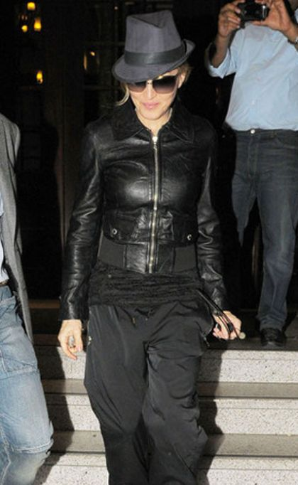Madonna leaving set of 'W.E.' at Club Quarters, London - July 26, 2010