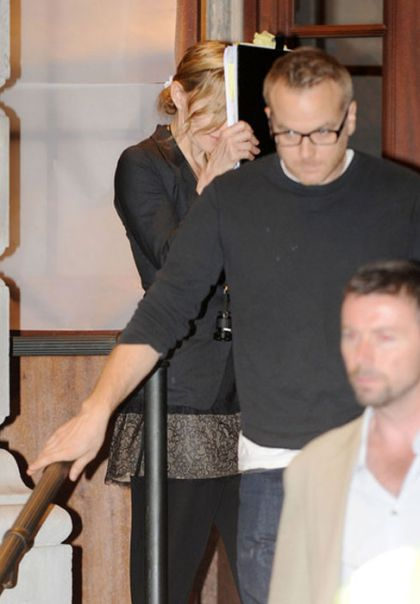 Madonna leaving the Grand Hotel in London - July 20, 2010