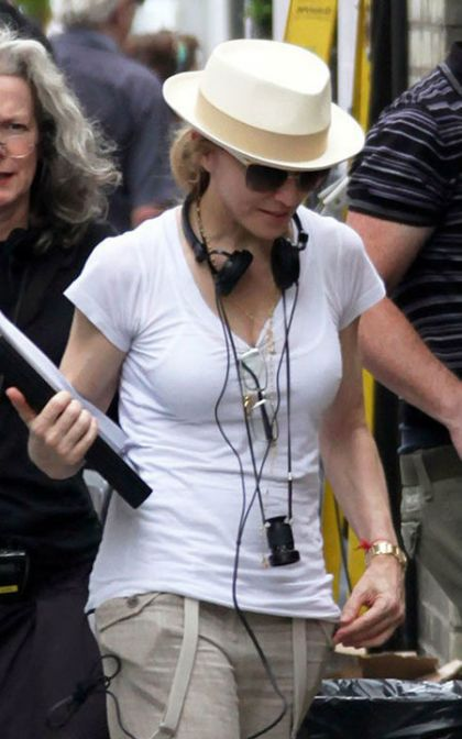 Madonna was spotted on the streets of West London yesterday shooting her directorial debut film W.E.