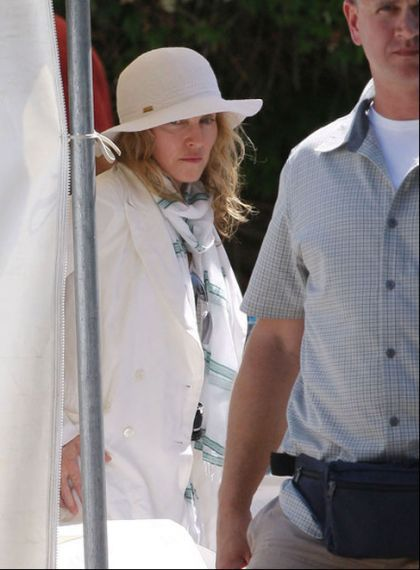 Madonna on the set of ''W.E.'' in Cannes, France - July 29, 2010