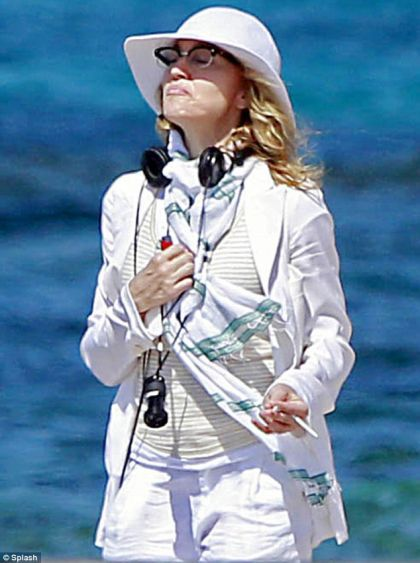 Madonna stayed on Mr Abramovich's yacht Luna while shooting ''W.E.''