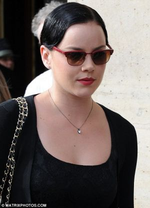 Abbie Cornish with new dark hair for Madonna's new movie ''W.E.''