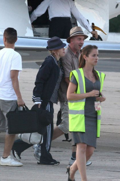 Madonna arrives in Paris to film ''W.E.'' on July 30, 2010