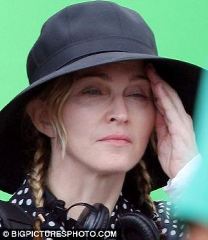 Madonna feels the strain as she films in France