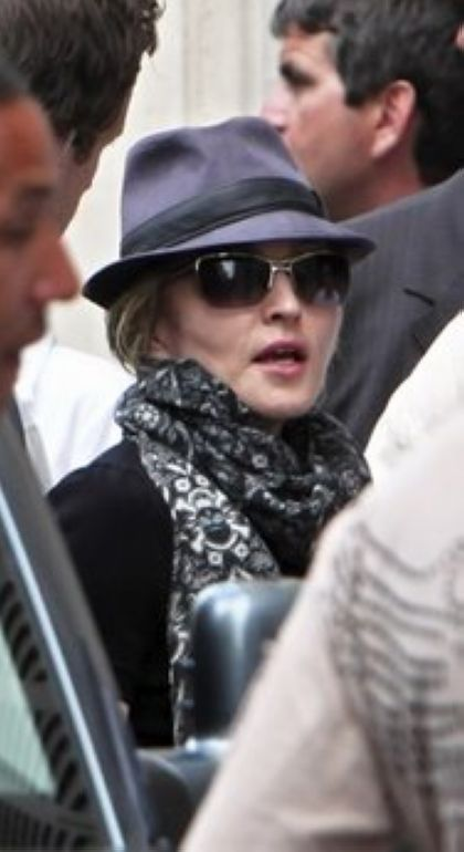 Madonna on the set of ''W.E.'' in Paris, France - July 31, 2010