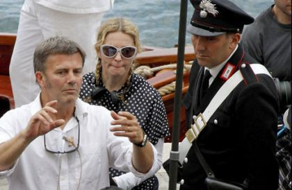 Madonna on the set of ''W.E.'' in Villefranche-sur-Mer - July 30, 2010