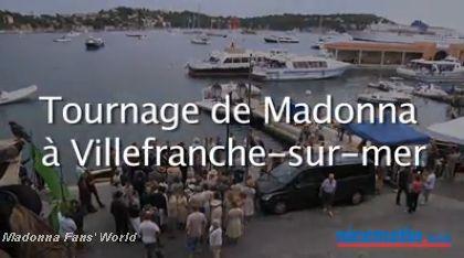Video: Madonna shoots ''W.E.'' in Villefranche-sur-Mer - July 30, 2010