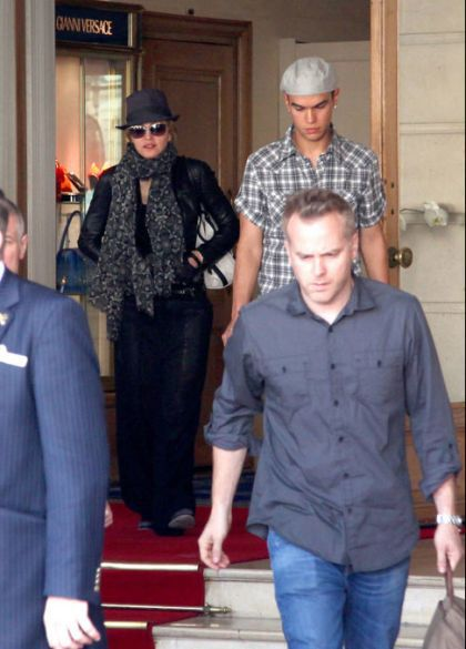 Madonna leaves hotel in Paris on July 31, 2010 to shoot ''W.E.''