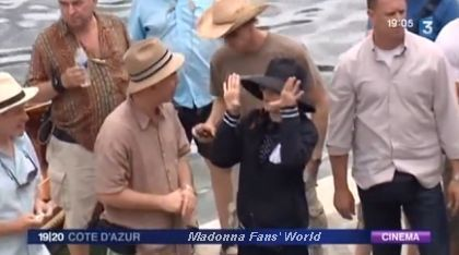 Video: Madonna on the set of ''W.E.'' on French channel FRANCE 3