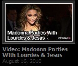 Video: Madonna's Birthday Party on August 14, 2010 in London