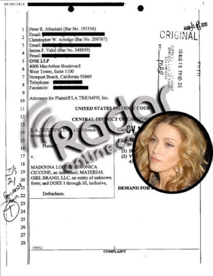 EXCLUSIVE DOCUMENT: The Lawsuit Against Madonna Over 'Material Girl'
