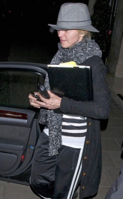 Madonna in London on August 19, 2010