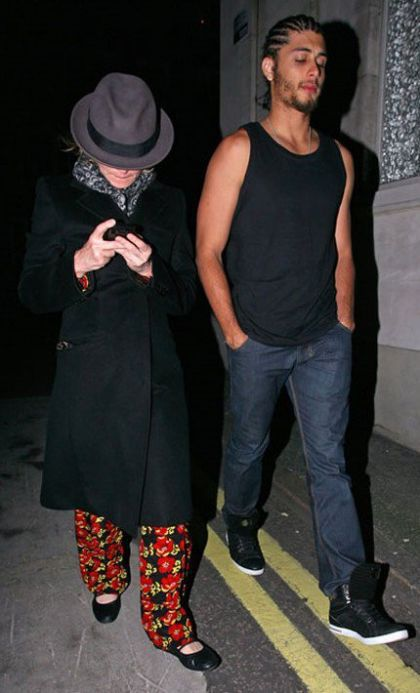 Madonna with Jesus Luz in London on August 18, 2010