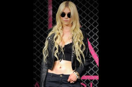 Taylor Momsen looked miserable at Madonna's Material Girl launch