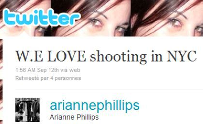 Arianne Phillips: ''W.E LOVE shooting in NYC''