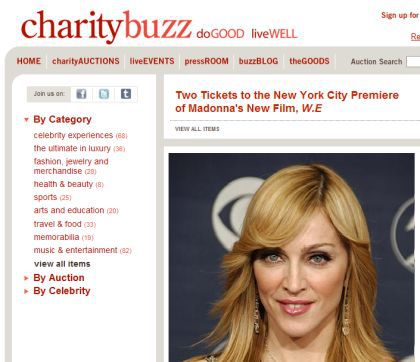 Two Tickets for Madonna's ''W.E.'' NY Premiere Up For Auction