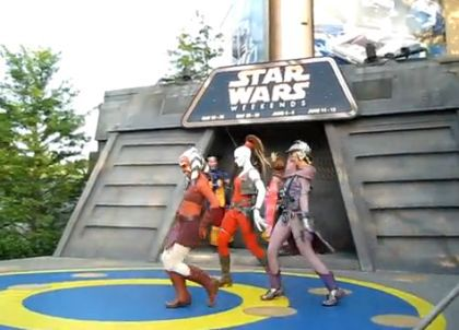 Madonna: Star Wars Weekends 2010 dance to Madonna's ''Material Girl''