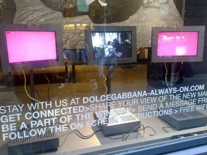 Madonna backstage video in Dolce&Gabbana Stores