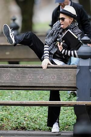Madonna shooting ''W.E.'' in Central Park, NY