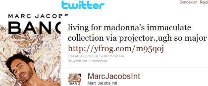 Marc Jacobs on Madonna's Immaculate Collection via projector