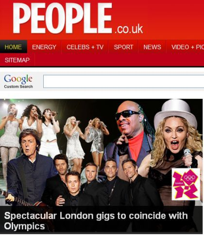 Madonna's concert in London to coincide with 2012 Olympics Games