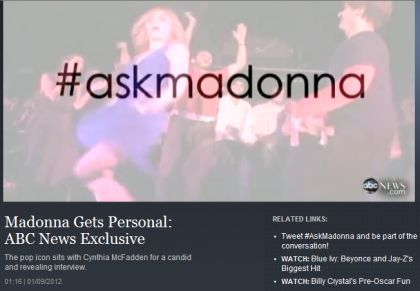 ABC video interview: Madonna Gets Personal