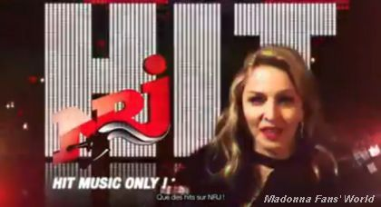 Madonna speaking to French fans in NRJ video for Super Bowl