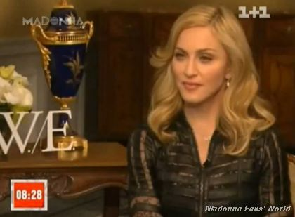 Interview with Madonna on Ukrainian TV '1+1' on January 29, 2012