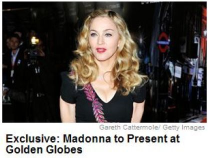 Madonna to Present at Golden Globes on January 15, 2012