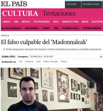 Interview with the Spanish Fan arrested for leaking Madonna's demo