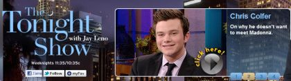 Video: Chris Colfer (Glee) on why he doesn't want to meet Madonna