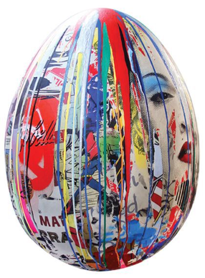 Mr. Brainwash's egg featuring Madonna in Fabergé Big Egg Hunt in London