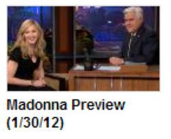 Madonna in ''The Tonight Show with Jay Leno'': Preview