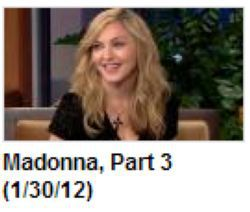 Madonna in ''The Tonight Show with Jay Leno'': 3 Video Clips